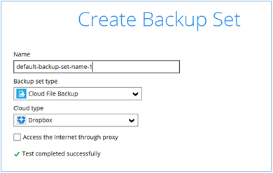 create backup sets