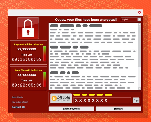 Virus Malware Ransomware wannacry encrypted your files