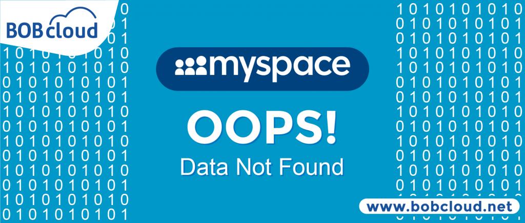 Myspace data loss