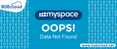Myspace data loss