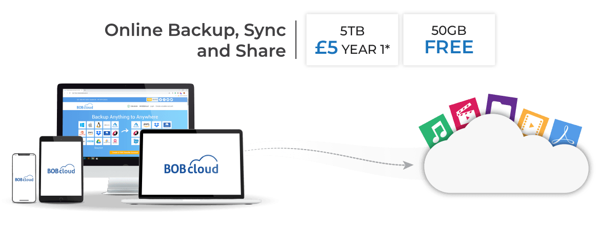 50GB FREE storage secure business file backup, sync and share