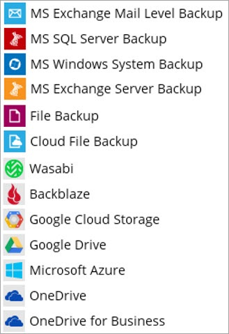 windows server and cloud applications backed up by BOBcloud