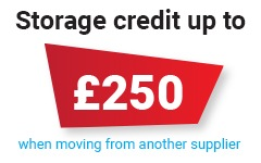 Storage Credit of £250 when moving to our cloud backup
