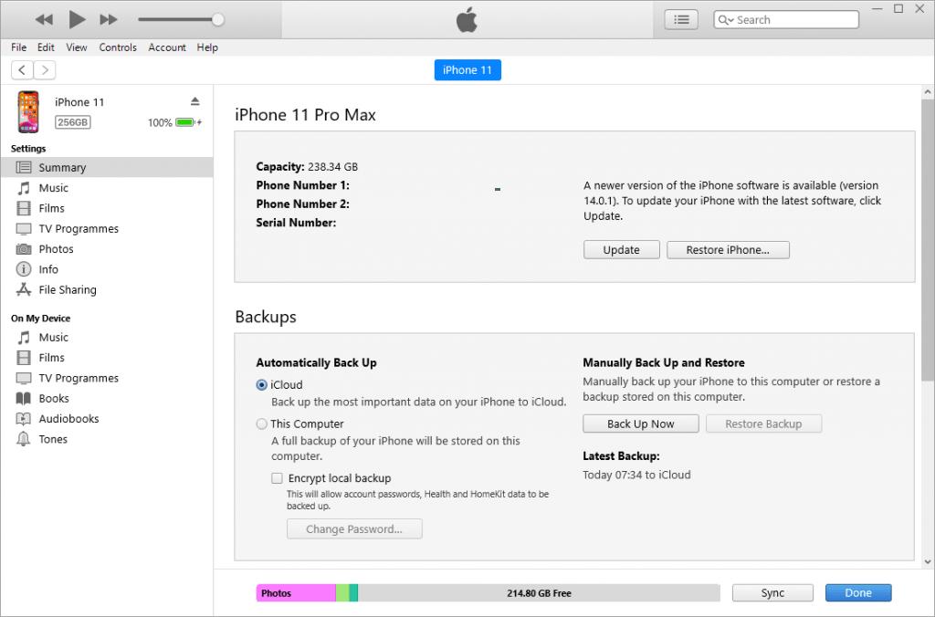 iTunes display